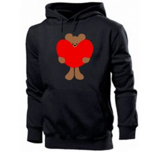 Men's hoodie Bear with a big heart