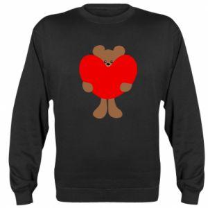Bluza (raglan) Bear with a big heart - PrintSalon