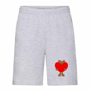 Men's shorts Bear with a big heart