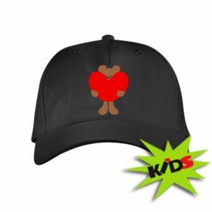 Kids' cap Bear with a big heart