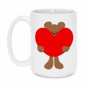 Kubek 450ml Bear with a big heart - PrintSalon