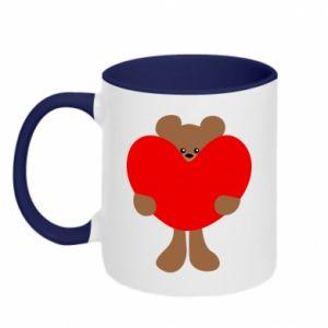 Kubek dwukolorowy Bear with a big heart