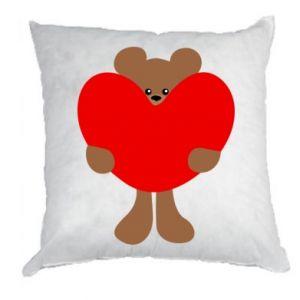 Pillow Bear with a big heart