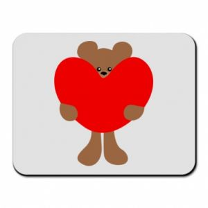 Mouse pad Bear with a big heart