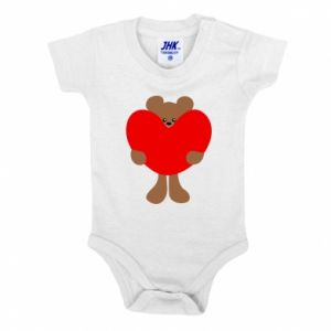 Baby bodysuit Bear with a big heart