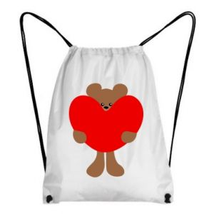 Backpack-bag Bear with a big heart