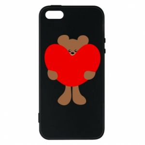 Phone case for iPhone 5/5S/SE Bear with a big heart