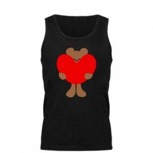 Męska koszulka Bear with a big heart - PrintSalon