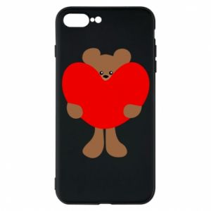 Phone case for iPhone 7 Plus Bear with a big heart
