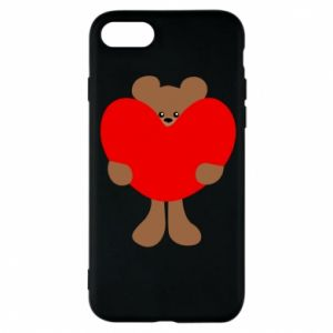 Phone case for iPhone 8 Bear with a big heart