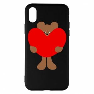 Phone case for iPhone X/Xs Bear with a big heart