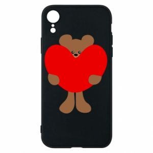 Phone case for iPhone XR Bear with a big heart