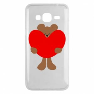 Phone case for Samsung J3 2016 Bear with a big heart