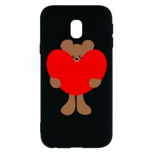 Phone case for Samsung J3 2017 Bear with a big heart
