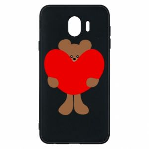 Phone case for Samsung J4 Bear with a big heart