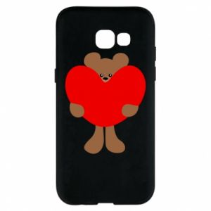 Phone case for Samsung A5 2017 Bear with a big heart