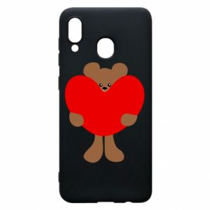 Phone case for Samsung A20 Bear with a big heart