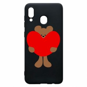 Phone case for Samsung A30 Bear with a big heart