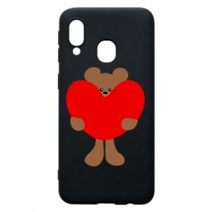 Phone case for Samsung A40 Bear with a big heart