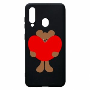 Phone case for Samsung A60 Bear with a big heart