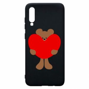 Phone case for Samsung A70 Bear with a big heart