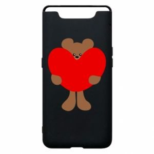 Phone case for Samsung A80 Bear with a big heart