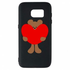 Phone case for Samsung S7 Bear with a big heart