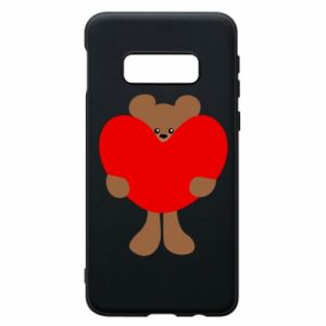 Phone case for Samsung S10e Bear with a big heart