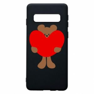 Phone case for Samsung S10 Bear with a big heart