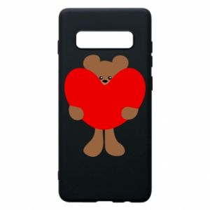 Phone case for Samsung S10+ Bear with a big heart