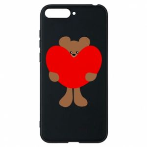 Phone case for Huawei Y6 2018 Bear with a big heart