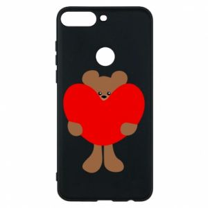 Phone case for Huawei Y7 Prime 2018 Bear with a big heart