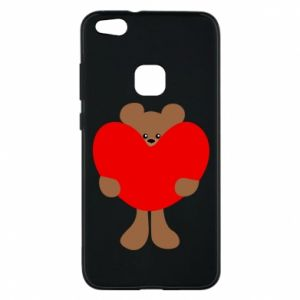 Phone case for Huawei P10 Lite Bear with a big heart