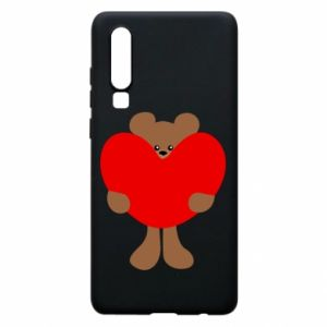 Phone case for Huawei P30 Bear with a big heart