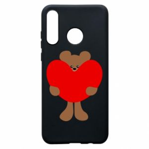 Phone case for Huawei P30 Lite Bear with a big heart