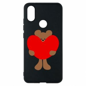 Phone case for Xiaomi Mi A2 Bear with a big heart