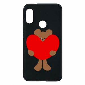 Phone case for Mi A2 Lite Bear with a big heart