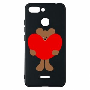 Phone case for Xiaomi Redmi 6 Bear with a big heart