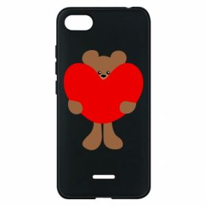 Phone case for Xiaomi Redmi 6A Bear with a big heart