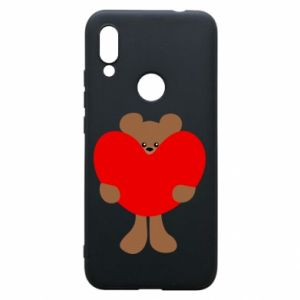 Phone case for Xiaomi Redmi 7 Bear with a big heart