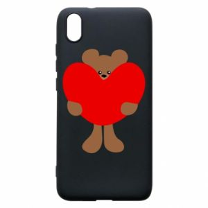 Phone case for Xiaomi Redmi 7A Bear with a big heart