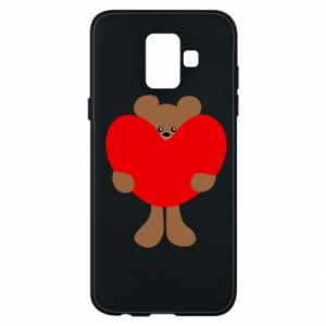 Phone case for Samsung A6 2018 Bear with a big heart