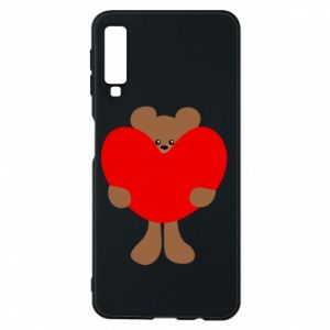 Phone case for Samsung A7 2018 Bear with a big heart