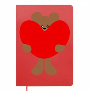 Notepad Bear with a big heart