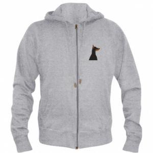 Men's zip up hoodie Beautiful doberman - PrintSalon