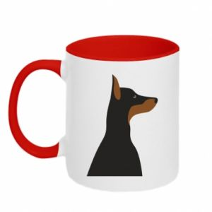 Two-toned mug Beautiful doberman