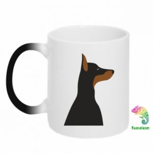 Chameleon mugs Beautiful doberman