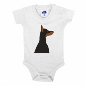 Baby bodysuit Beautiful doberman - PrintSalon