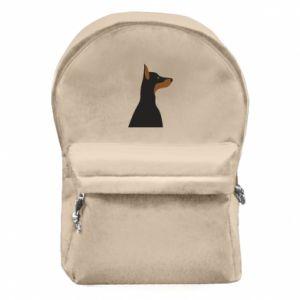 Backpack with front pocket Beautiful doberman - PrintSalon