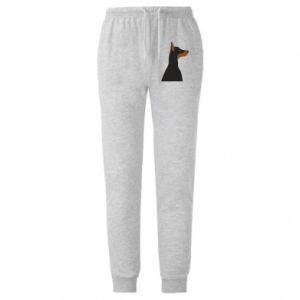 Męskie spodnie lekkie Beautiful doberman - PrintSalon